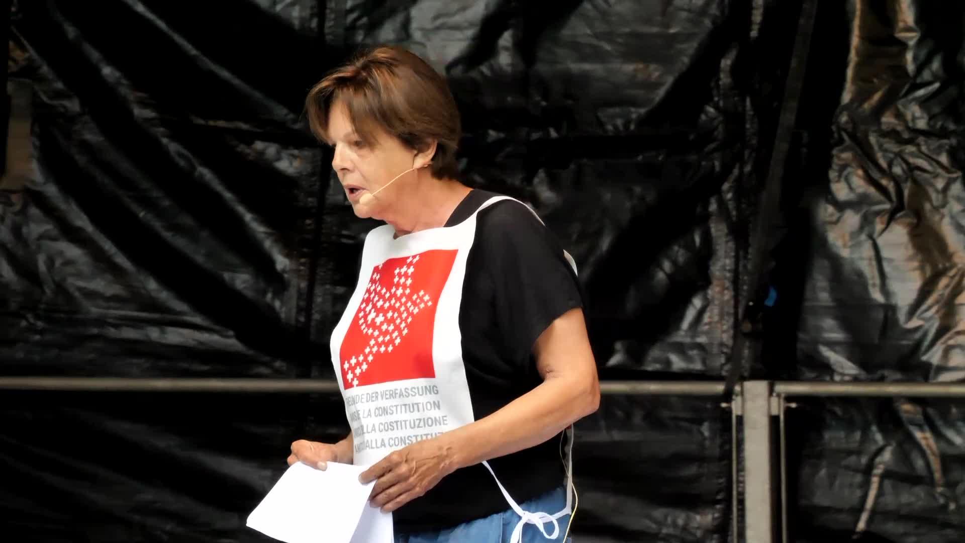 Kundgebung Luzern 31-08-2021: Ansrpache: Marion Russek