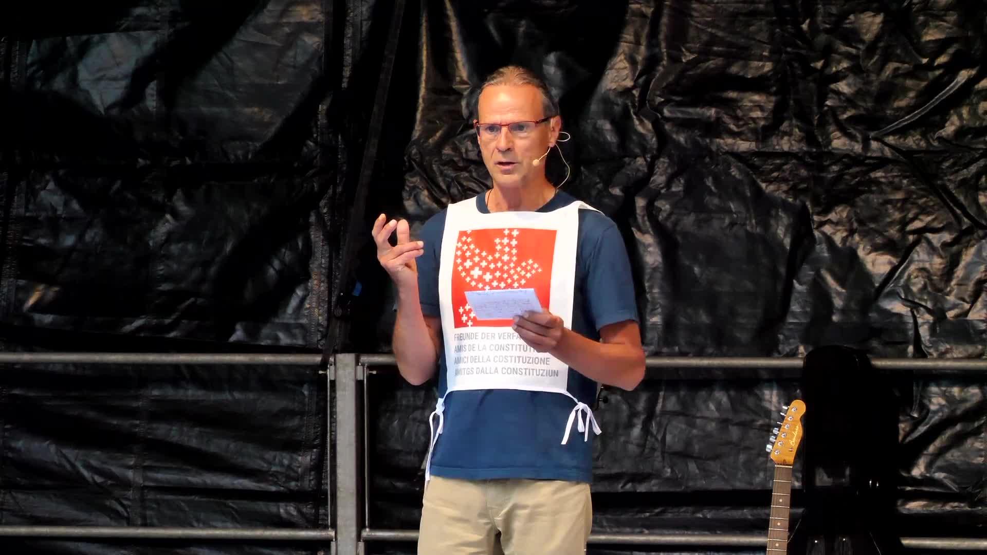 Kundgebung Luzern 31-08-2021: Ansprache: Werner Boxler