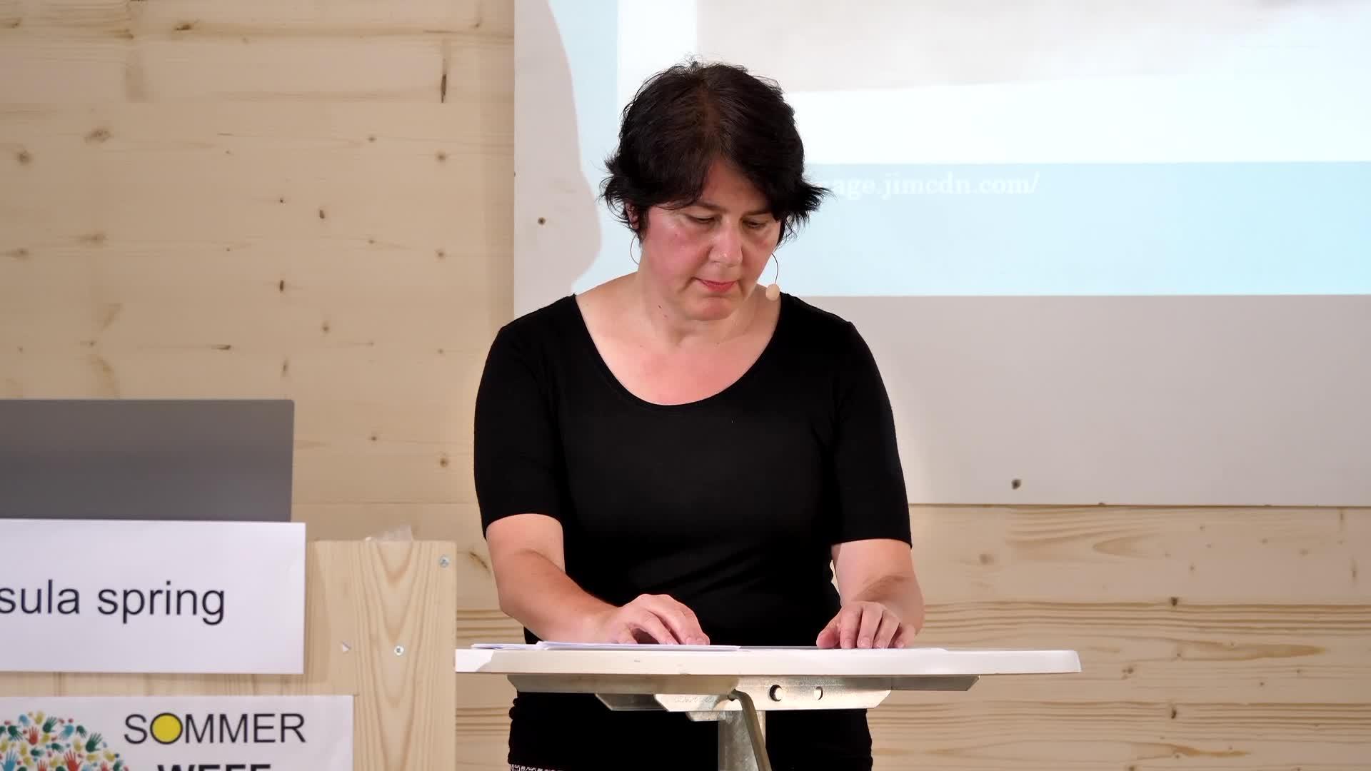 Weff 2021 - Vortrag Ursula Spring