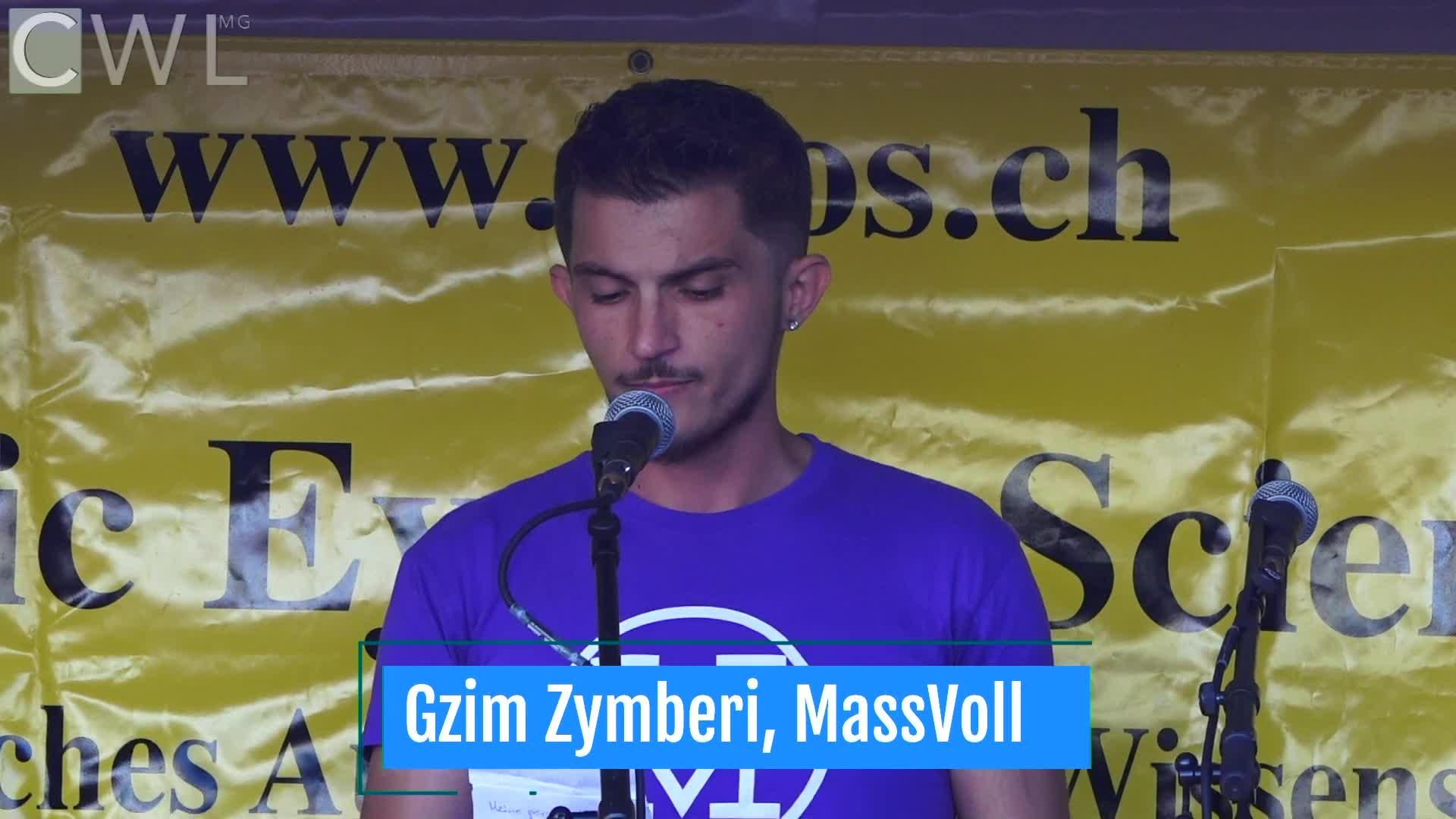 Ansprache: Gzim Zymberi : MassVoll